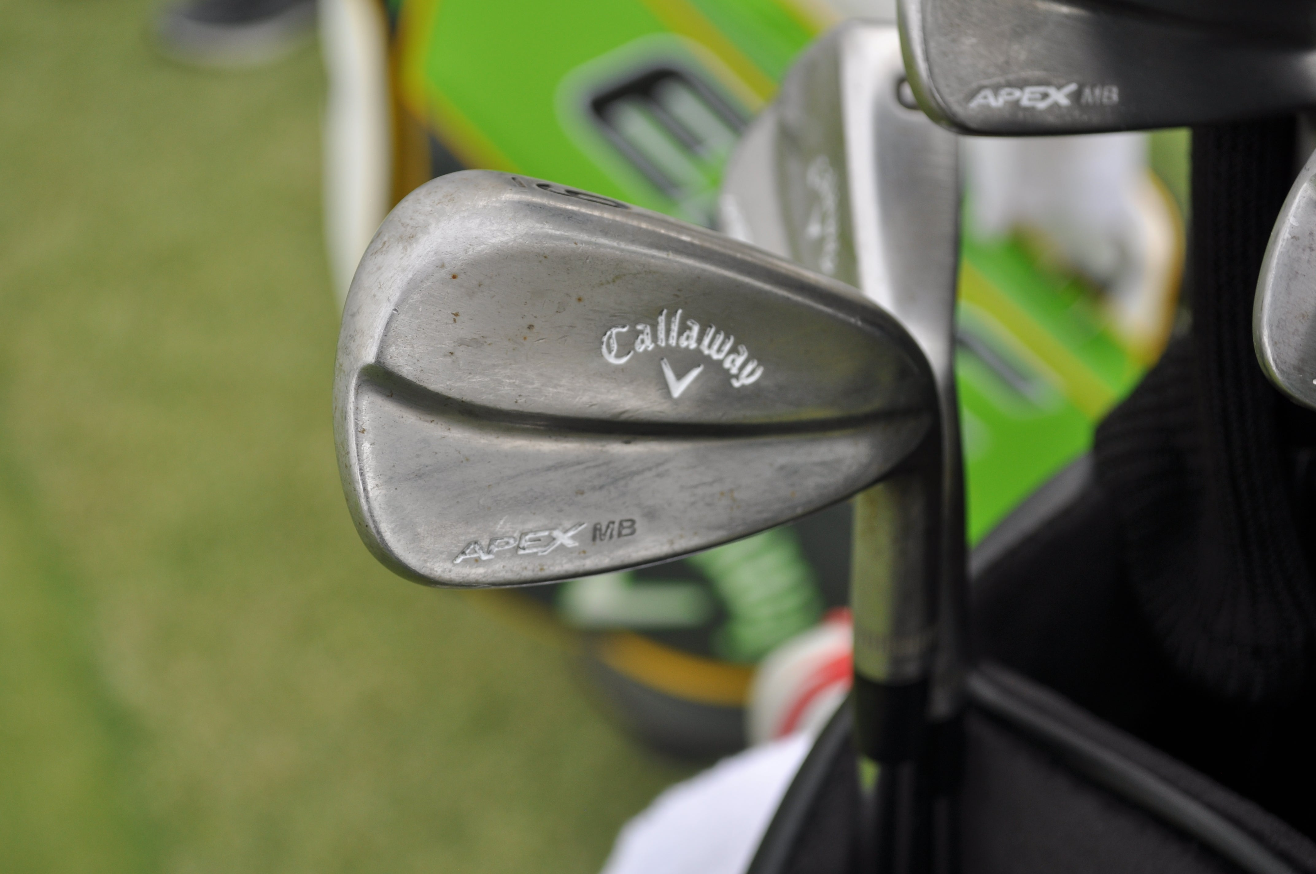 Adam Hadwin's raw Callaway Apex MB irons feature a patina finish.