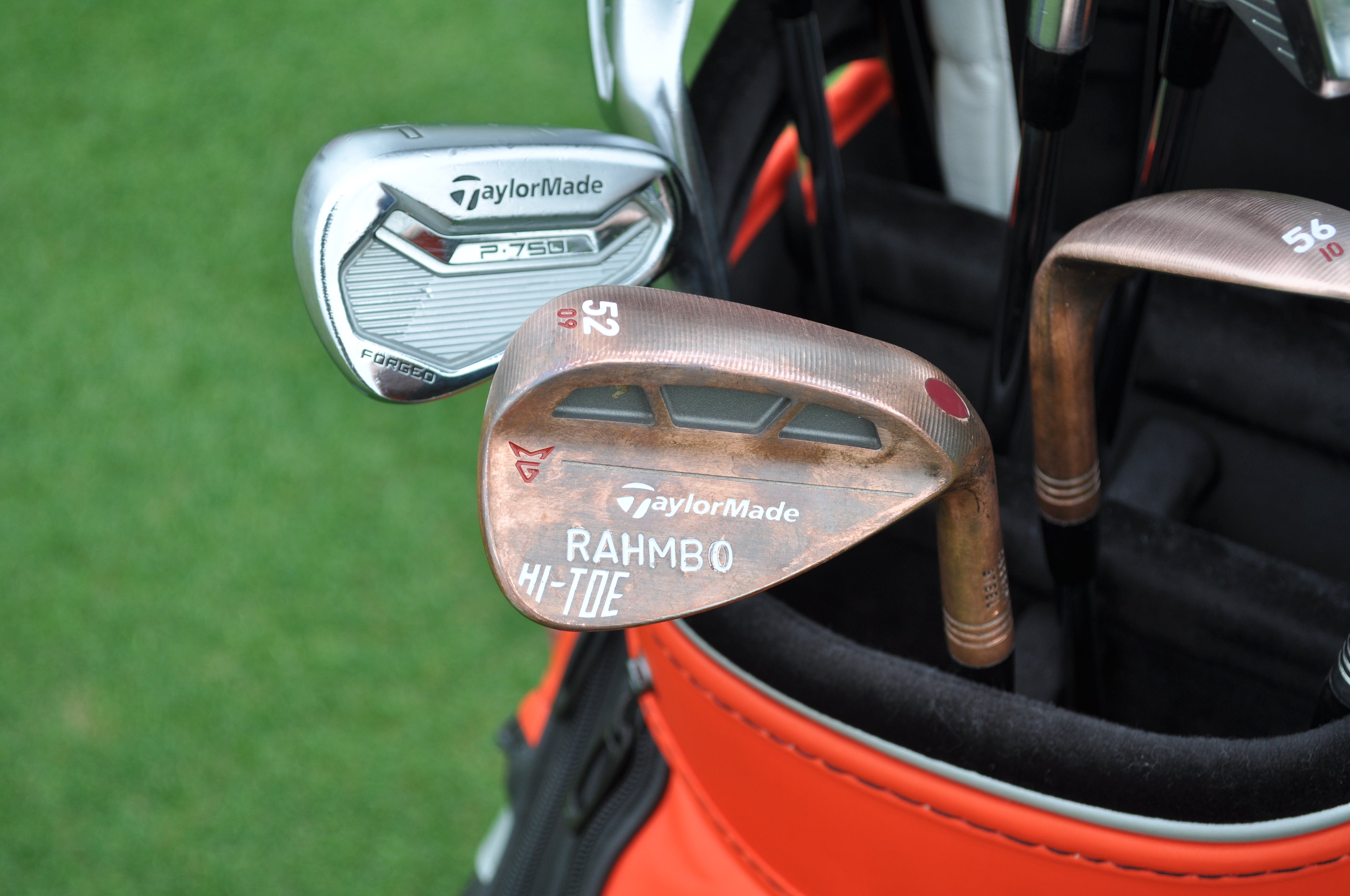 Jon Rahm's 52-degree TaylorMade Milled Grind Hi-Toe wedge.