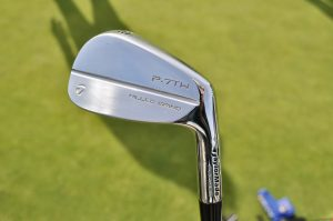 Tommy Fleetwood was the first player to put TaylorMade's Tiger-designed P7TW irons in play.