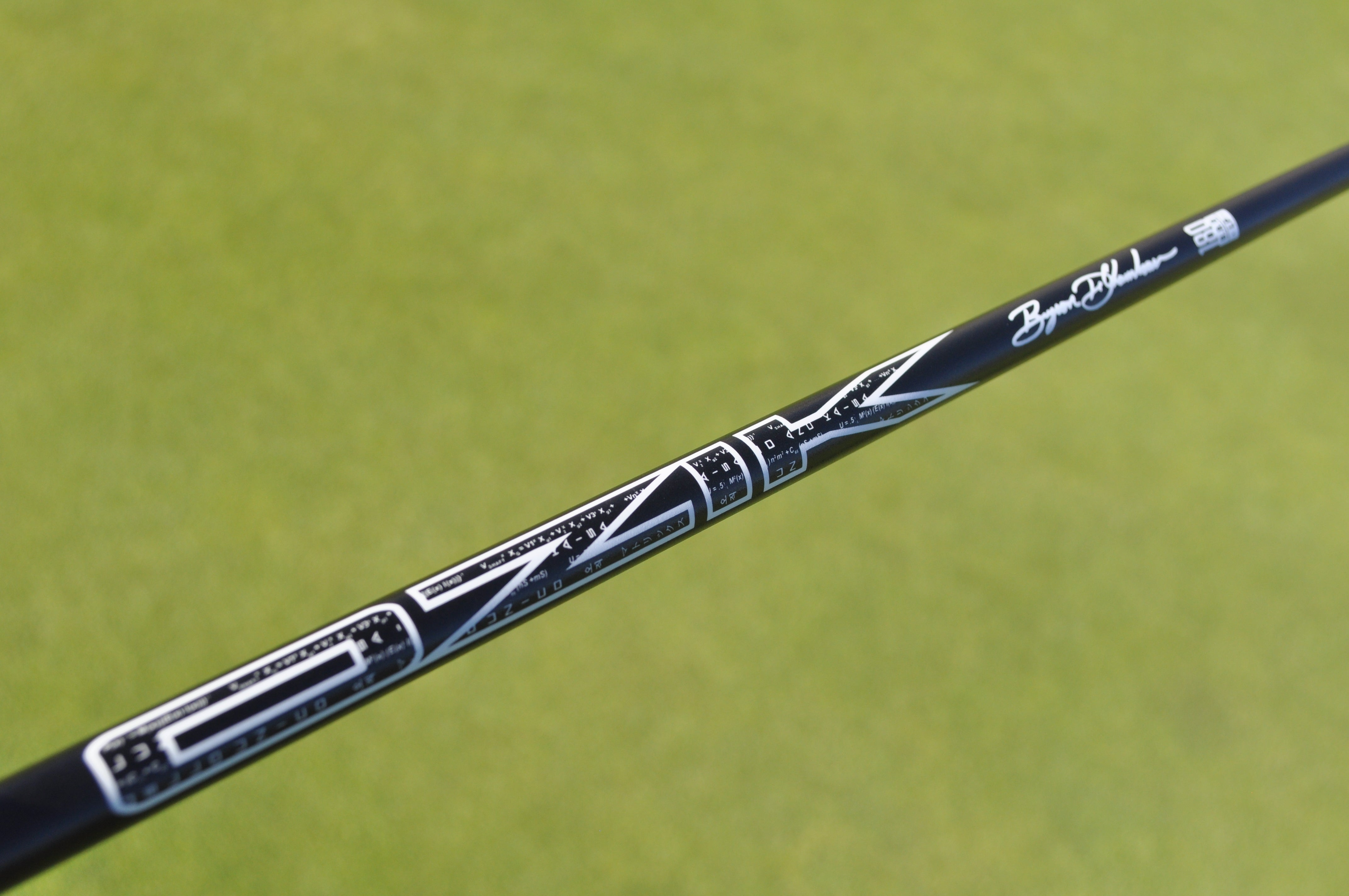 LA Golf created a Matrix signature putter shaft for Bryson DeChambeau.