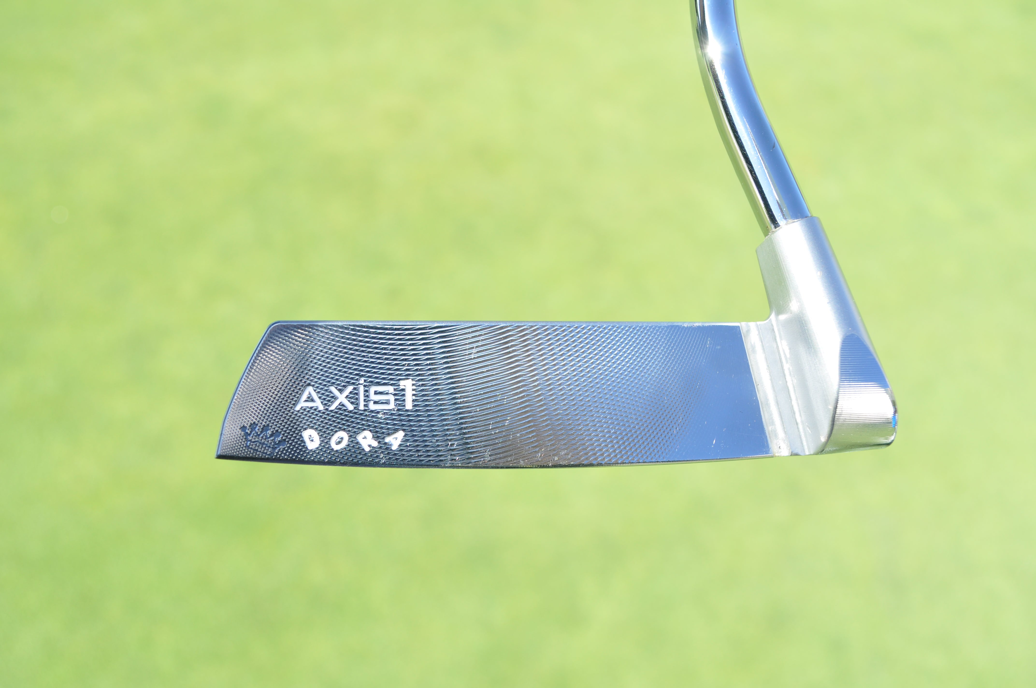 Axis1 Golf built a Tour putter for Kyle Stanley to test that has his dog's name stamped on the toe.