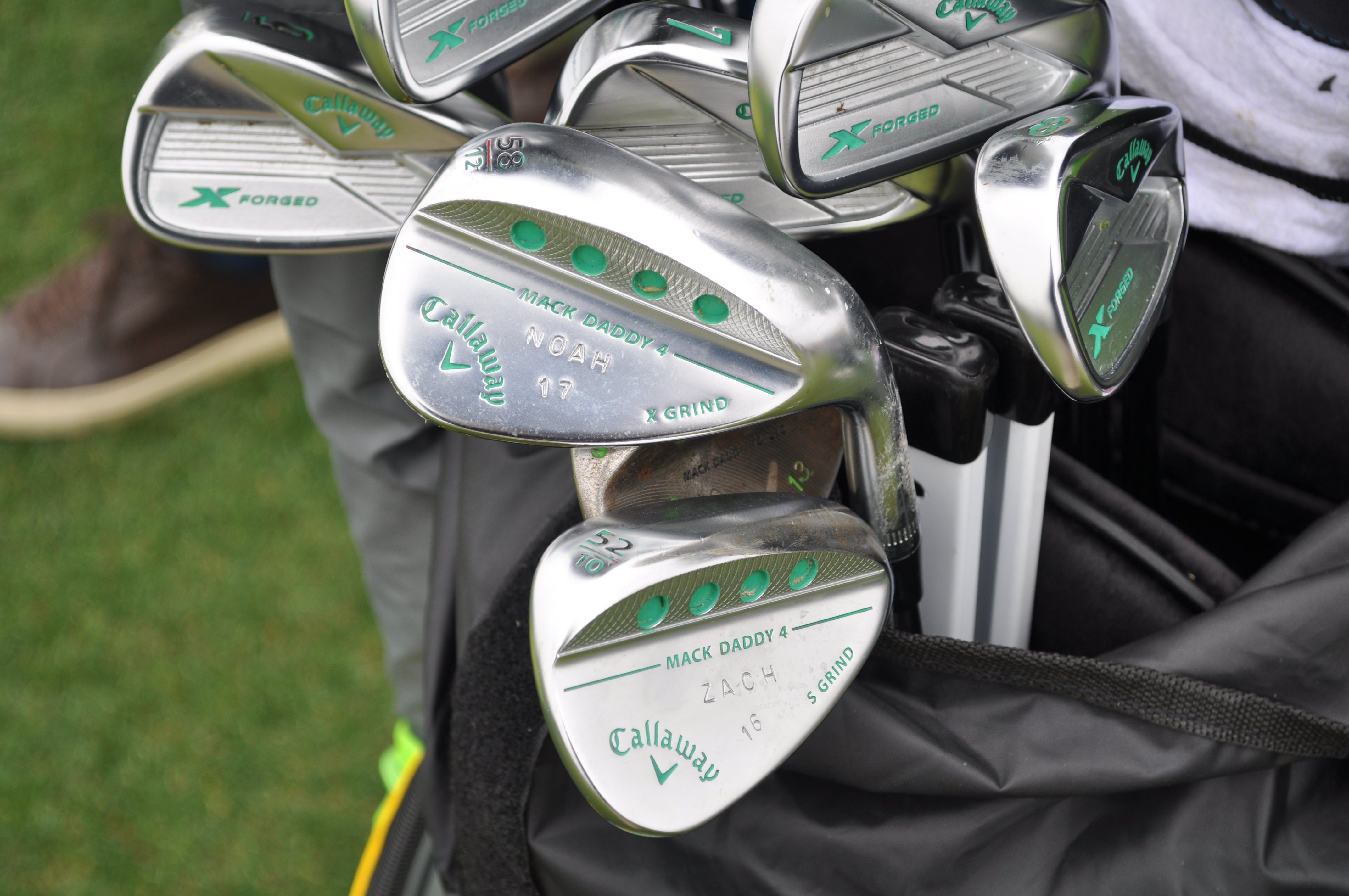 Danny Willett had the names of his kids stamped on each Callaway Mack Daddy 4 wedge.