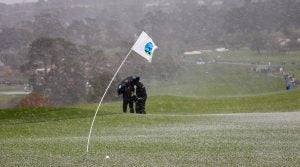 The weather got nasty at Pebble Beach during Sunday's final round.