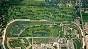 The Brickyard is famously known for its racing, but it also has some pretty good golf too.