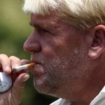 John Daly takes a smoke break as he waits to tee off on the ninth hole during the third round of the Crowne Plaza Invitational at Colonial at Colonial Country Club in Fort Worth, Texas, Saturday, May 26, 2012. (Richard W. Rodriguez/Fort Worth Star-Telegram/MCT)