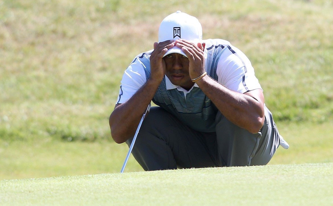 Tiger Woods' golf mental game is to get in the zone