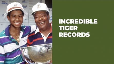 tiger woods golf record books