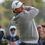 J.B. Holmes watches a tee shot during the final round of the Genesis Open on Sunday.