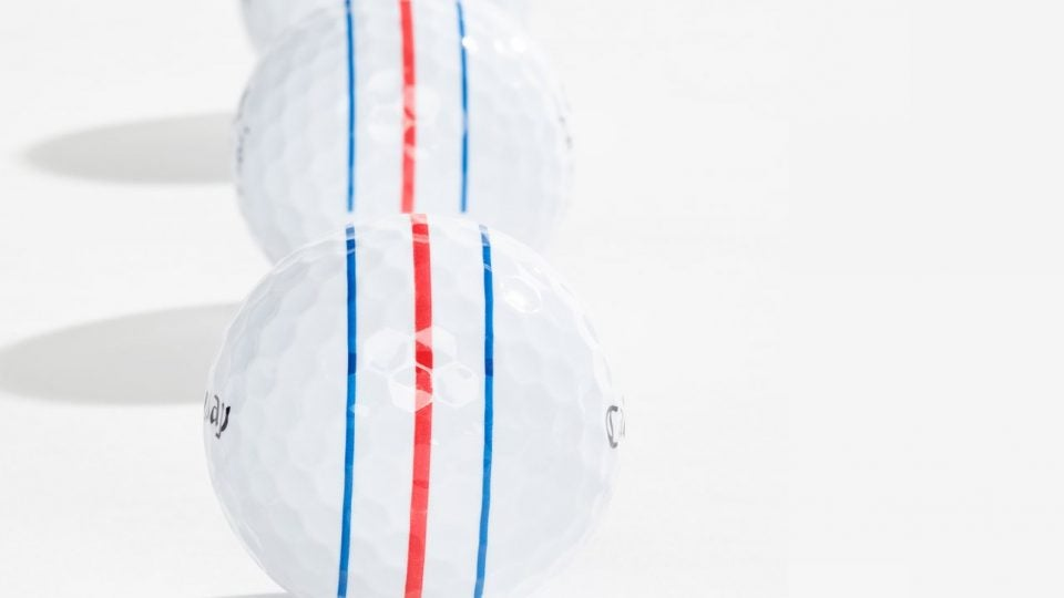 Phil Mickelson's Callaway Chrome Soft X with Triple Track Technology.