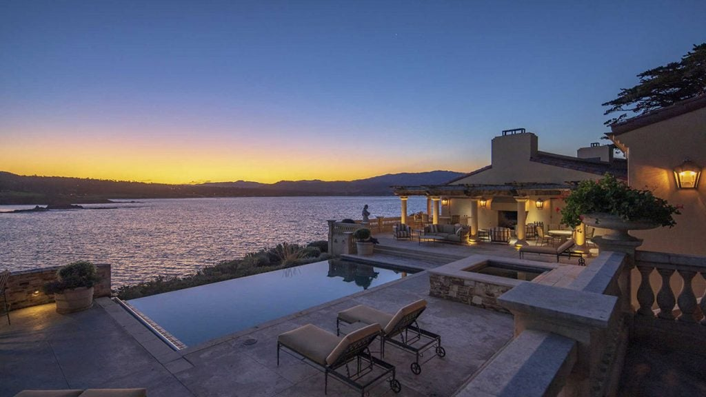 This $34.9 million home is an entertainer's dream, with views of Pebble Beach Golf Links across the water.