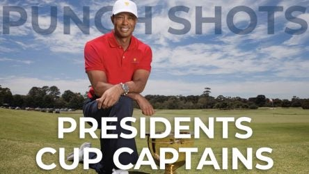 Picture of Tiger Woods, Presidents Cup trophy