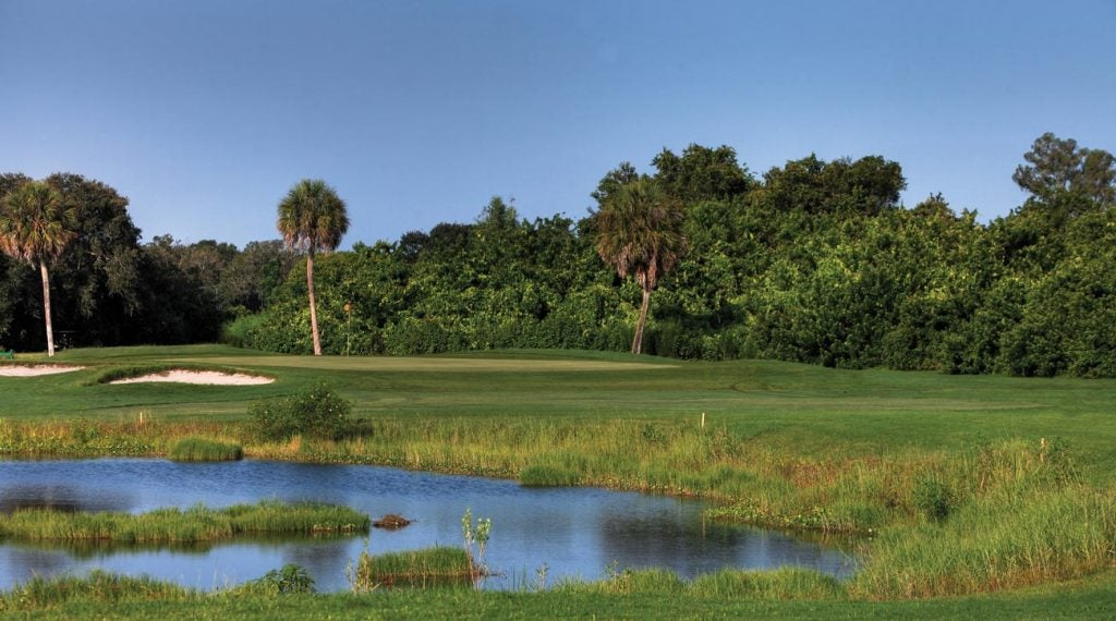 Like many courses in Florida, Rolling Green brings the natural landscape into play.