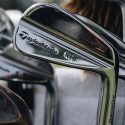 Rory McIlroy's TaylorMade irons with the retail P730 badging.