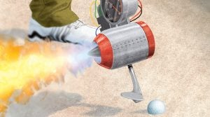 Rules Guy sand wedge rocket illustration