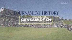 Photo of golf course, Riviera Country Club, Genesis Open
