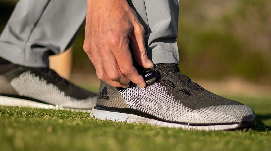 The Adidas Forgefiber BOA shoes feature a new BOA fit system for optimized fit.