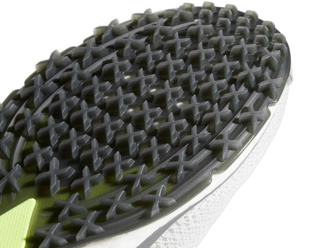 The Adidas Forgefiber shoes include the same X-Traxion system used in the Tour360 XT-SL shoe.