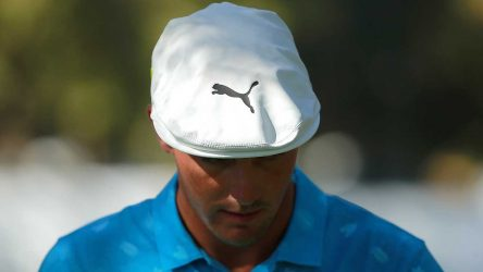 Bryson DeChambeau walks off the green during the first round of the WGC-Mexico Championship.