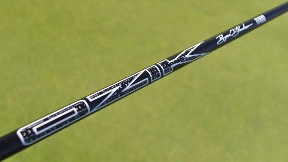LA Golf created a Matrix signature putter shaft for Bryson DeChambeau