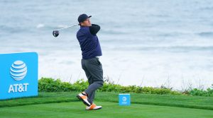 Ho-sung Choi plays a practice round prior to the 2019 AT&T Pebble Beach Pro-Am