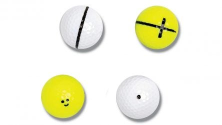 golf ball mark