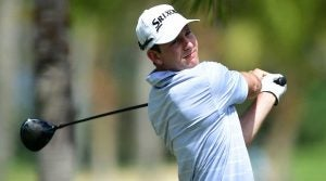 Martin Trainer hits his driver during the final round of the Puerto Rico Open.