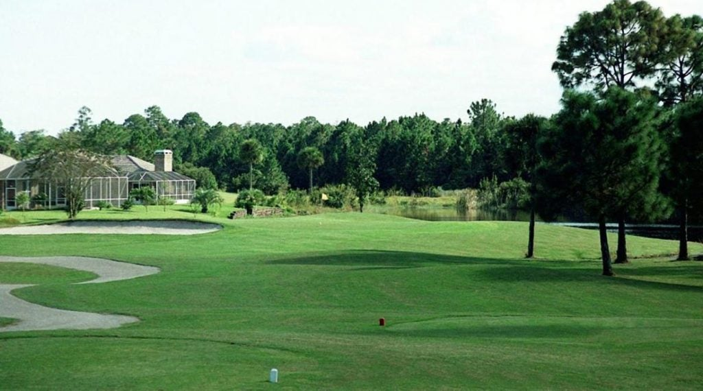 The South Course at Pelican Bay features waterways on 15 of its holes.