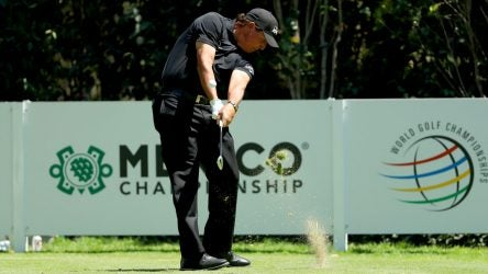 Phil Mickelson tees off during last year's WGC-Mexico Championship