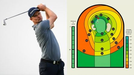 Justin Rose eyes-down his iron shot