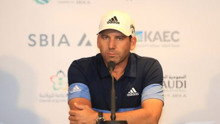 Sergio Garcia during a press conference at the 2019 Saudi International