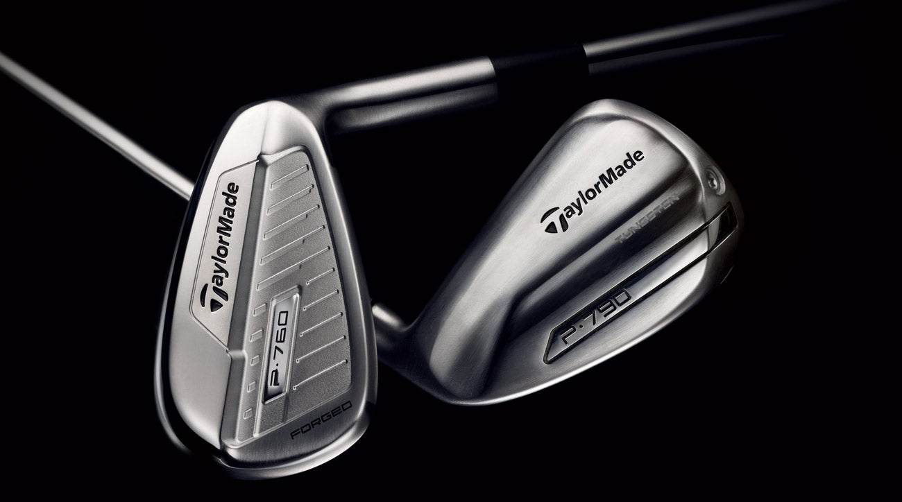 TayroMade's P760 irons (left) and P790 irons (right) offer different advantages to players