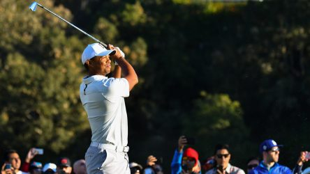 Tiger Woods pictured during last year's Genesis Open at Riviera CC