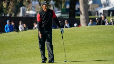 Tiger Woods had an outside chance to win the Genesis Open before four late bogeys derailed him