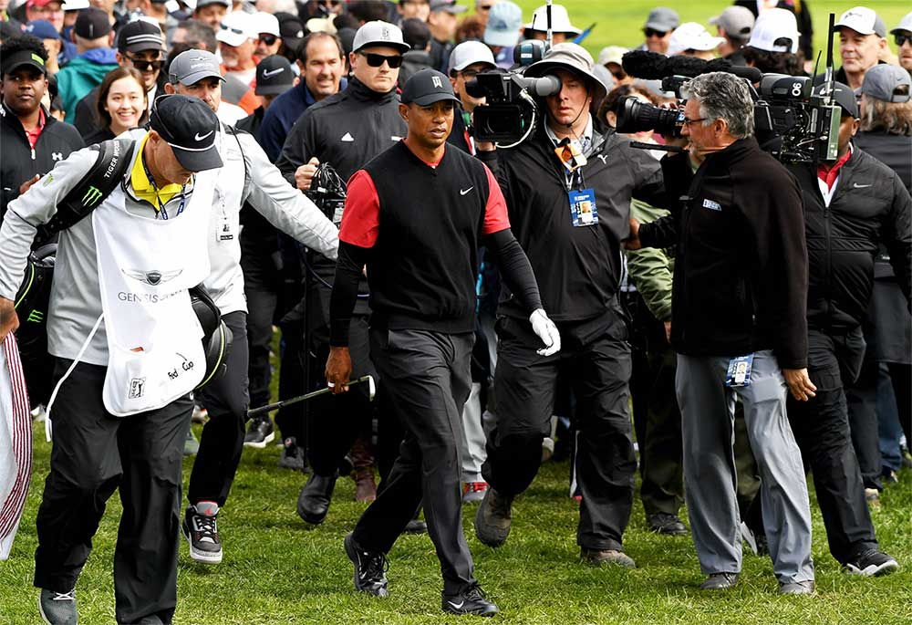 Tiger Woods tied for 15th at the Genesis Open.