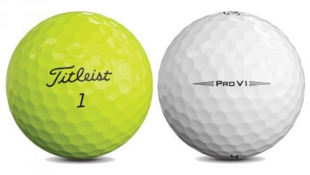 Is there a difference between yellow and white Pro V1s? In short, no
