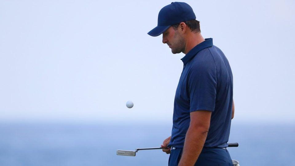Tony Romo during his PGA Tour debut at the 2018 Corales Puntacana Resort & Club Championship