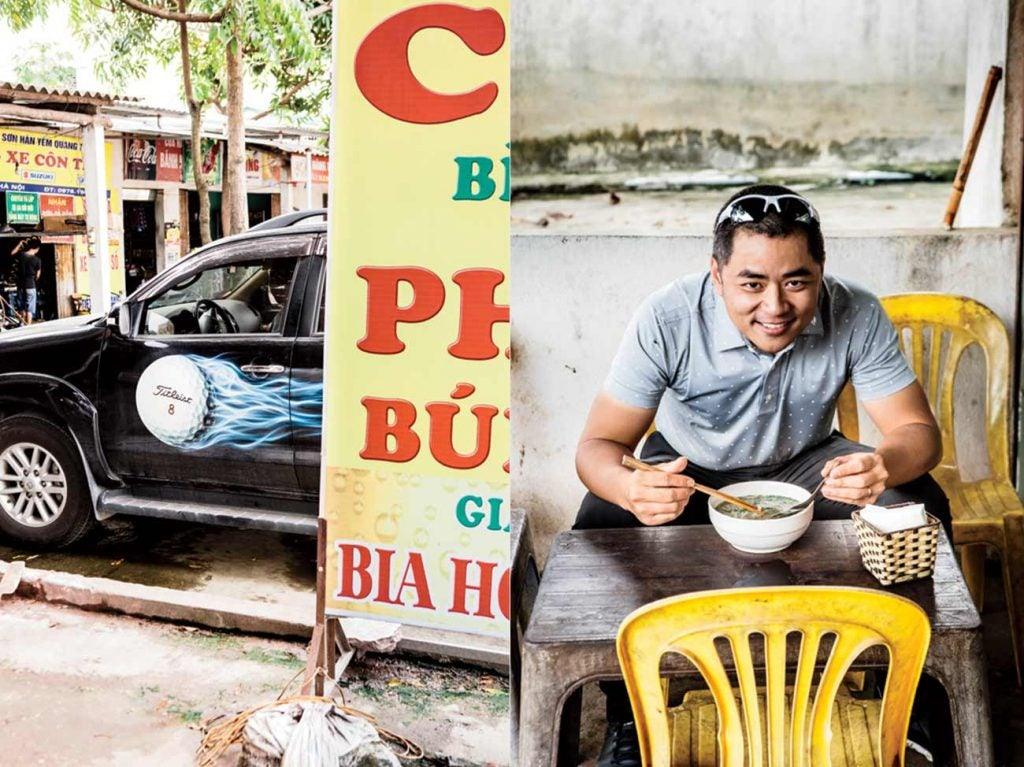 Duc Pham, Vietnam's only PGA professional, likes his ride—and his roadside cuisine—extra spicy.