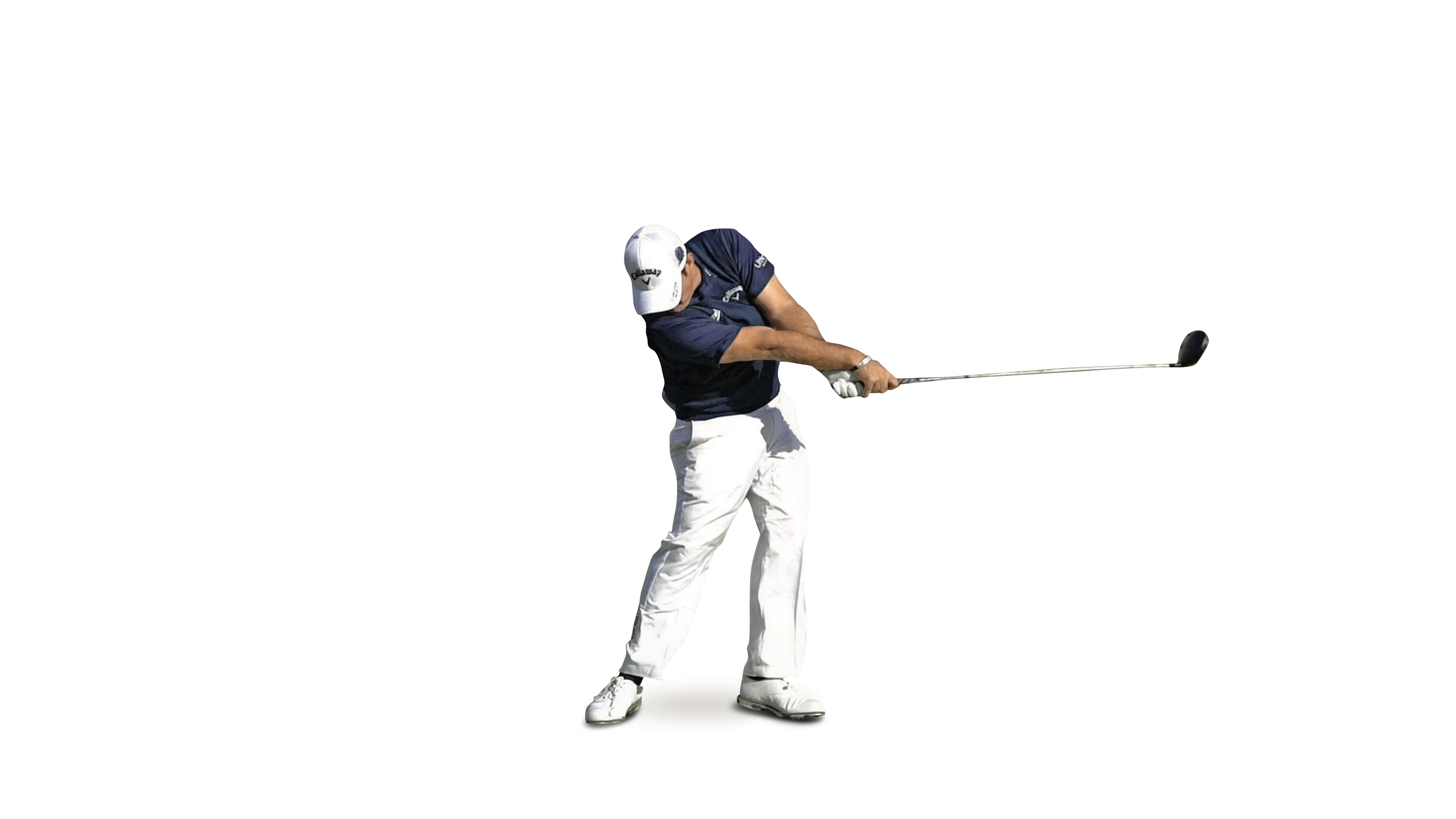 Patrick Reed releasong the club