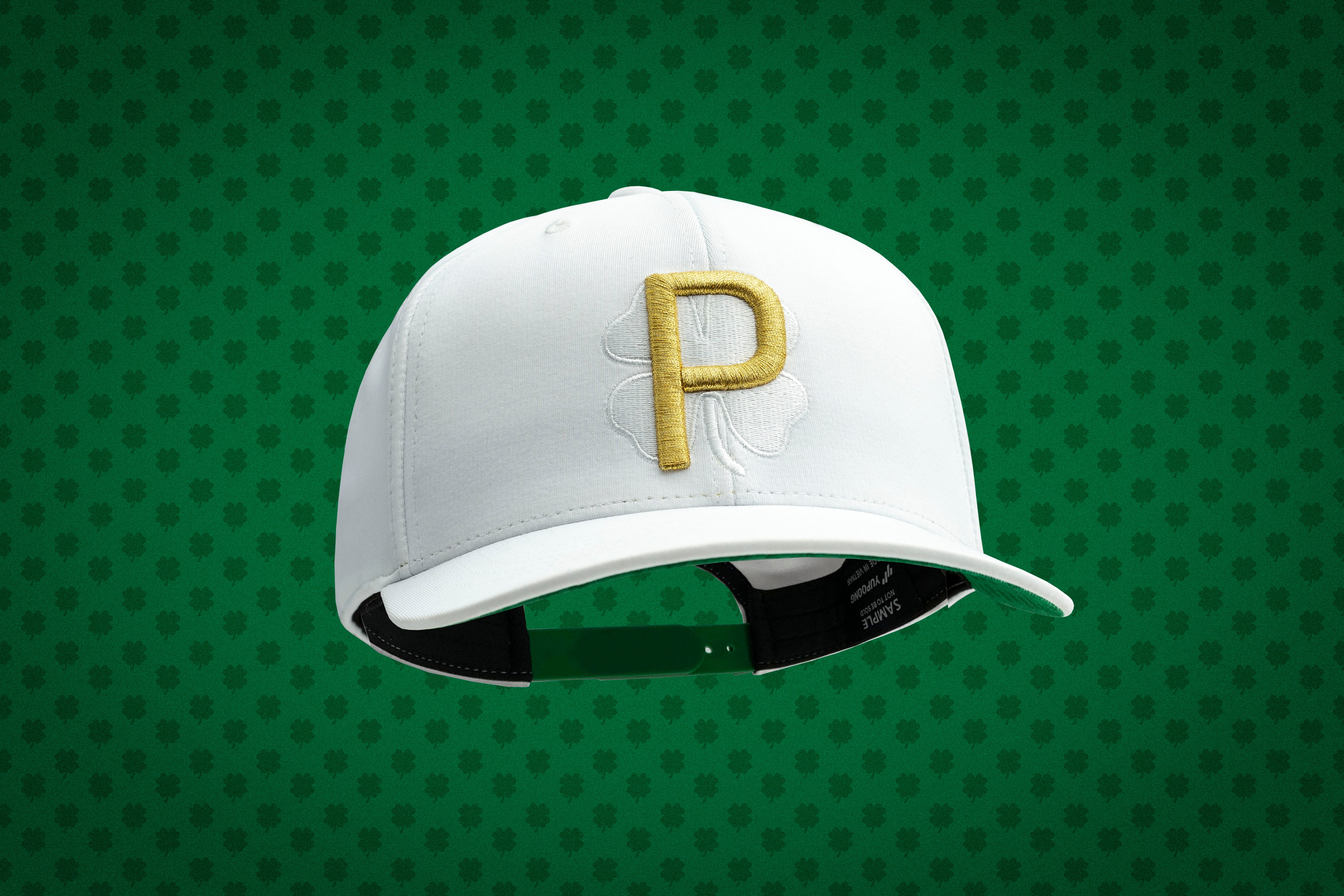 A closer look at Rickie Fowler's special edition St. Patrick's Day hat.