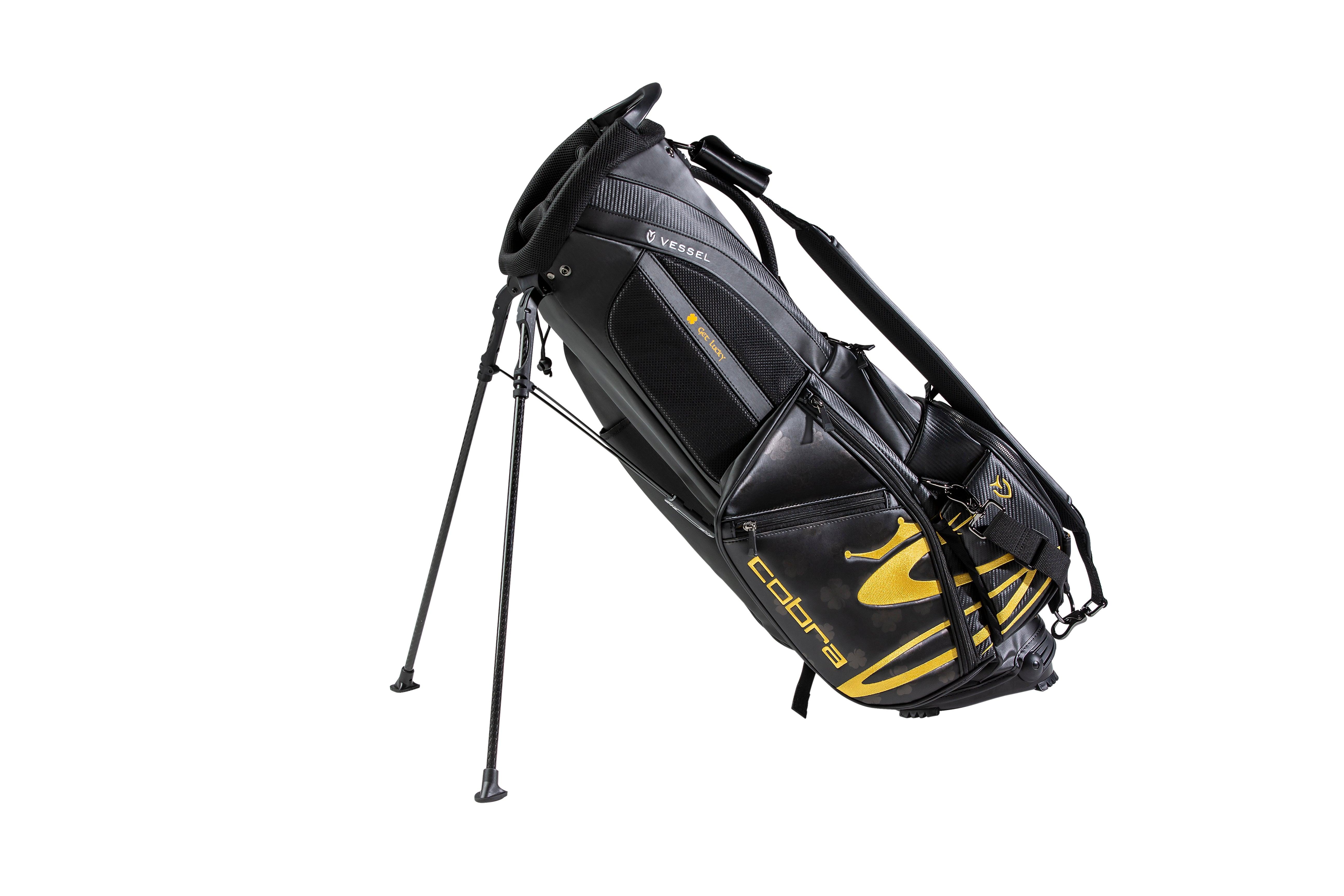 Bryson DeChambeau's custom Cobra St. Patrick's Day golf bag.