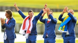 2020 Ryder Cup: Rory McIlroy celebrates Europe's win in 2018