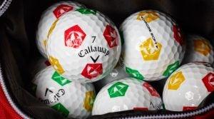 Callaway's Arnold Palmer Umbrella Chrome Soft Truvis golf balls.