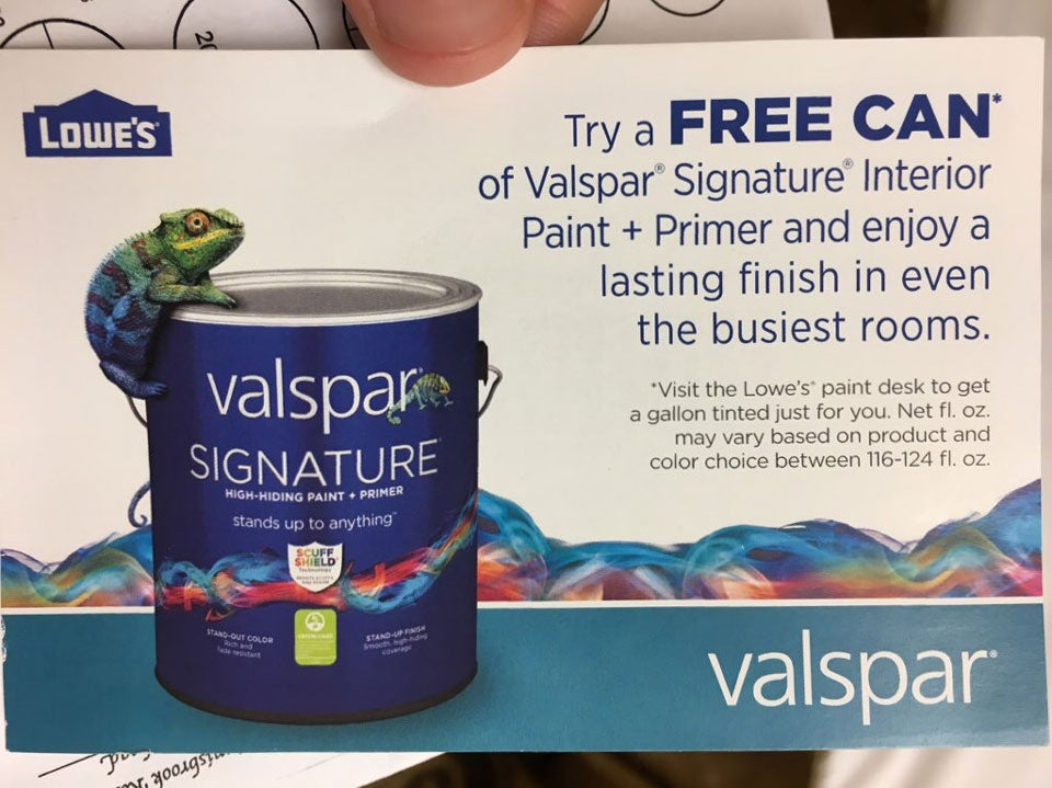 One of the perks of caddying at the Valspar this week: a voucher for some free paint!