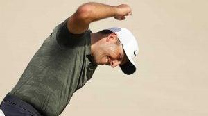 Francesco Molinari celebrates after making birdie on the 18th hole at Bay Hill on Sunday.