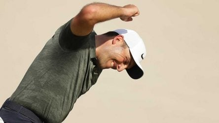 Francesco Molinari celebrates after making birdie on the 18th hole at Bay Hill on Sunday.