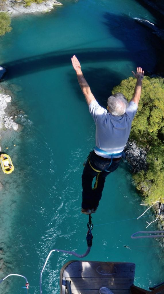 Bungee jumping is a little bit scarier than playing golf.