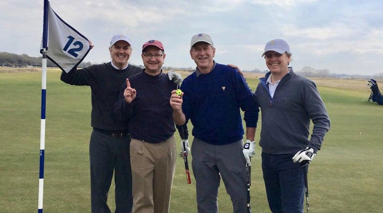 George W. Bush hole-in-one
