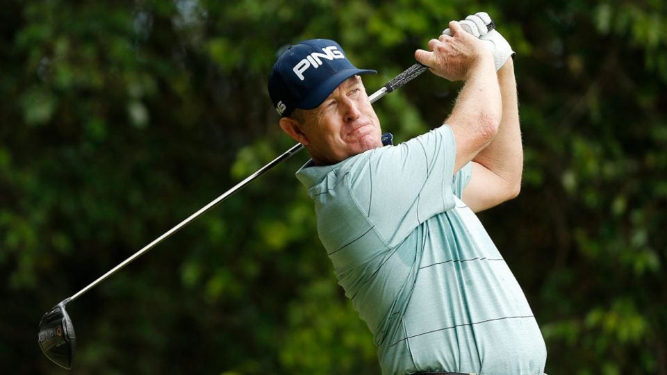Jeff Maggert has had a roller-coaster weekend at the Hoag Classic so far.