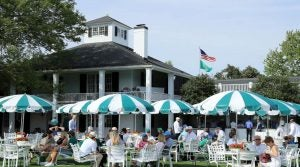 It's no picnic scoring a table at Augusta National's clubhouse terrace.