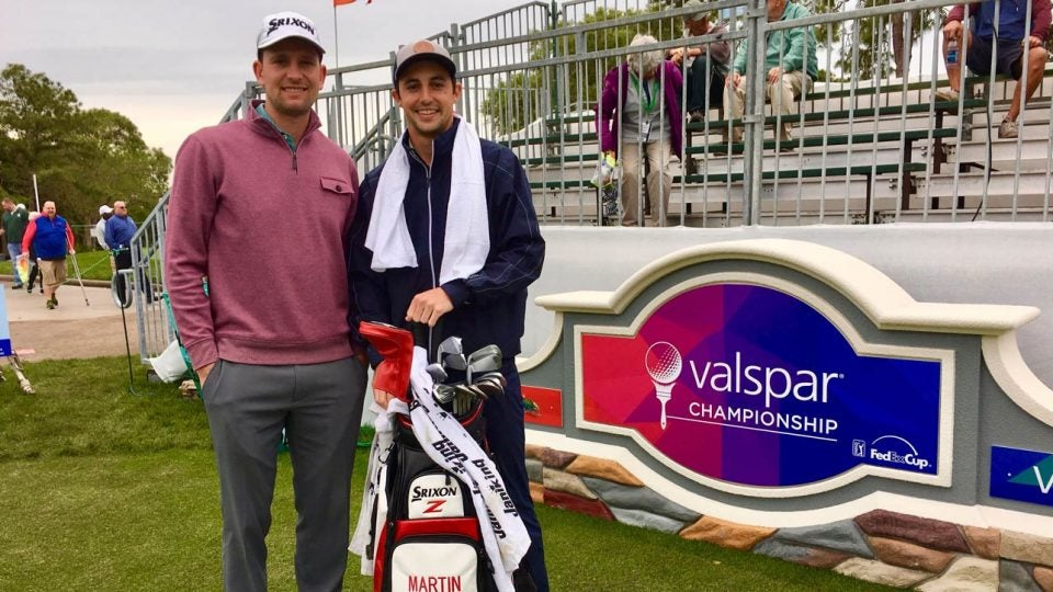 Martin Trainer has a new caddie on the bag this week, GOLF.com's Dylan Dethier.